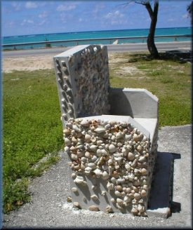Chair by the sea in Nassau Bahamas