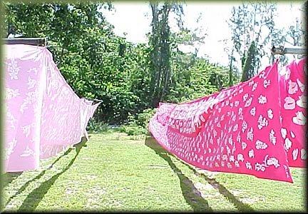 Androsia Batik made in Andros, Bahamas